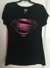 SuperGirl Graphic T Shirt With Cape Women's Junior Size 2XL(19) 50/50 Super Hero