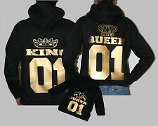 King & Queen Sweatshirt,Hoodie Fun Shirt Love Pärchen Liebe Vater Mutter Kind