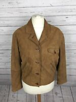 Women's Timberland Leather Jacket - Large UK12 - Brown - Great Condition