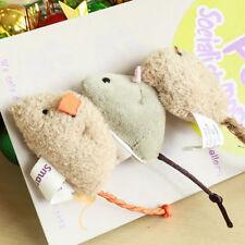 3Pcs/Set Fur False Plush Mouse Pet Cat Toy Mini Funny Playing Toys For Kitten