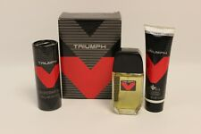 Vintage 90s Avon TRIUMPH Holiday Trio Set Cologne Spray Talc After Shave