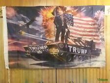 TRUMP TANK Digital Print 3x5' Flag Donald Trump 2020 Keep America Great MAGA KAG