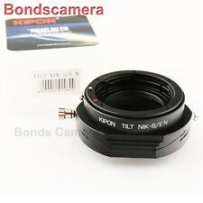 Kipon tilt Nikon F lens to Sony NEX E mount adapter A7 A7R NEX-5T 7 A5000 A6000