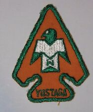 Yustaga Lodge 385 A1 OA Arrowhead patch Order of the Arrow Boy Scout very good