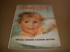Family Circle Magazine, May, 1952, 50's Summer Fashions, Tulips, Holland, Mich!