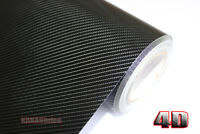 30x150cm New Car 4D Carbon Fiber Texture Grain Vinyl Wrap Sticker Decal Black KW