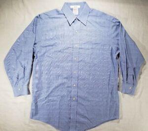 Brooks Brothers Men's Blue Plaid Long Sleeve Button Up Dress Shirt - M