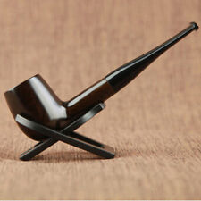 Free Shipping New Ebony Wood Smoking Pipe Wooden Pipe High Quality Gift Pipe