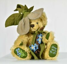 Hermann Forget-Me-Not Flower Teddy Bear Limited Edition Tagged