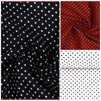 100% kochfeste Baumwolle Stoff Tupfen Punkte Pünktchen schwarz rot weiß 50x138cm