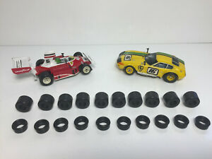 AFX~ G+ ~NEW~(10) Wide Front & (10) Rear Tires For G+ Chassis AURORA SUPER GRIP!
