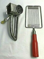 Vintage Primitive Farmhouse Cheese Slicer & Rotary Grater