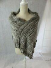 Jocelyn Gray Fur Poncho One Size NWT