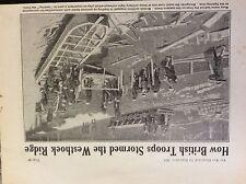 a1l ephemera 1917 ww1 picture british troops pontoon boats westhoek ridge