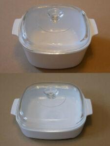 Auflaufform Glaskeramik - Corning Ware - weiß - 21 cm / 25 cm - Pyroflam