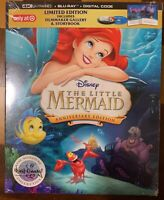 Disney The Little Mermaid 4K UHD + Blu-ray + Digital TARGET EXCLUSIVE Story Book