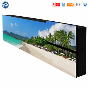 LED Display Laufschrift Werbung Reklame 32 x 256 cm Vollfarbig Außen Innen 8 mm