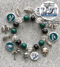 Philadelphia Eagles CHAMPIONS Bracelet Free Button