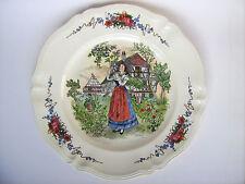 Sarreguemines Obernai Platte Teller 34cm Keramik Henri Loux Tracht Alsace France