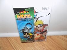 Naruto Shippuden: Dragon Blade Chronicles (Nintendo Wii, 2010) With Keychain NEW