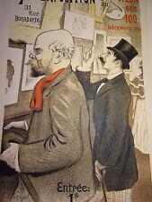 F. A. CAZALS 1865-1941 Litho BELLE EPOQUE VERLAINE JEAN MOREAS SYMBOLISME 1900