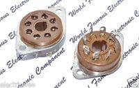 1pcs - AMPHENOL 8-Pin Bakelite Tube Socket - 2Z8678.337 59-103(200)