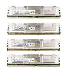 16GB (4x4GB) Samsung Server RAM 2Rx4 PC2-5300F 667 Mhz DDR2 Arbeitsspeicher