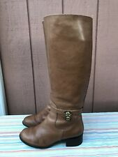 Michael Kors Hamilton Luggage Women Brown Leather Boots Size US 6M