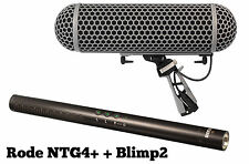 Rode NTG4+  Microphone w/ Digital Switches & Rechargeable Battery+ BLIMP BLIMP2