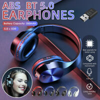Bluetooth 5.0 Headphone Headset HiFi Stereo Wireless TV Earphone w/ Transmitter