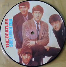 """New! Beatles Picture Disc 7"""" Vinyl She Loves You The 20th Anniversary"""