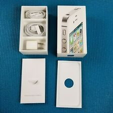 iPhone 4S Box Only with Charger Brick & Cord & earphones