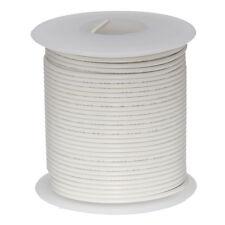 "28 AWG Gauge Stranded Hook Up Wire White 100 ft 0.0126"" MIL Spec 600 Volts"