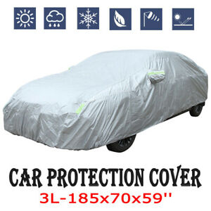 Full Car Cover Waterproof Outdoor 3L All Weather Protection Breathable For Sedan