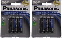 8 Super Heavy Duty Power Panasonic Triple AAA 1.5V Carbon Zinc Batteries 2x4