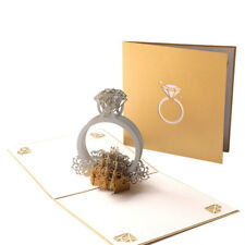 Diamond Ring Love Popup Pop Up Greeting 3D Card Gift  Wedding Anniversary