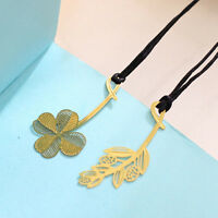 New Arrival Four-leaf Clover Reading Metal Clip Bookmark Gift Book Mark for Kids