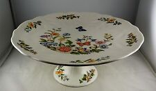 Aynsley Bone China Cottage Garden Footed Cake Plate or Stand