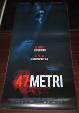Locandina originale film 47 metri 33 x 70 cinema Italia