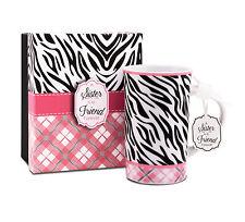 Zebra Print You & Me Mug by Jessie Steele 49030 A Sister is a Friend Forever
