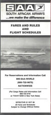 South African Airways international timetable 10/1/85 [9071]
