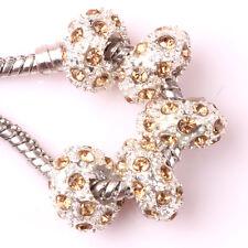 Fashion 5pcs Silver CZ nest big hole Beads Fit European Charm Bracelet DIY #A105