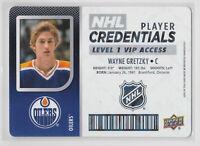 2017-18 Upper Deck Credentials VIP Wayne Gretzky