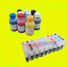 9 non OEM refillable compatible cartridge for Epson SC P600 + 900ml pigment ink