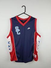 Vintage Retro para hombre Nike usa brillante audaz Deportes Atléticos Baloncesto Camiseta Top Reino Unido XL