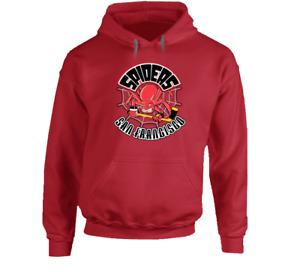 San Francisco Spiders IHL International Hockey League hooded sweatshirt hoodie