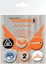 The Division 2 Mix 6 Pin Assorted Badges Trendy Badge Pack
