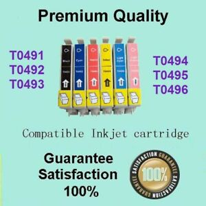 12 x T0491-T0496 Inks Compatible for Epson STYLUS PHOTO RX510 RX630 RX650