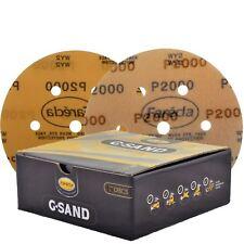 """Farecla G. abrasivo de película 6"""" discos de lijado de arena P2000 Caja de 50 7 orificios 150 mm"""