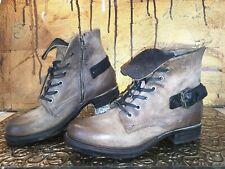 AirStep A.S.98 Leder Stiefel Damen Schuhe Stiefeletten Biker Boots Braun EUR 39